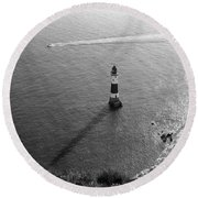 Round Beach Towel featuring the photograph Beachy Head Lighthouse by Will Gudgeon