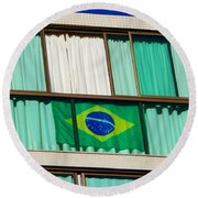 Round Beach Towel featuring the photograph Brazil by Beto Machado