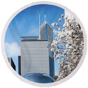 Chicago Bean Millenium Park Round Beach Towel