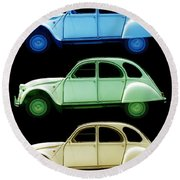 5 Citroens Round Beach Towel by Andrew Fare