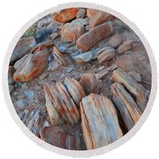 Round Beach Towel featuring the photograph Colorful Cove In Valley Of Fire by Ray Mathis