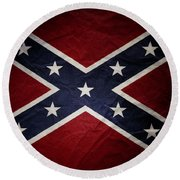 Confederate Flag 8 Round Beach Towel
