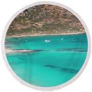 Crete Round Beach Towel