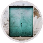 Round Beach Towel featuring the photograph Door With No Number by Marco Oliveira