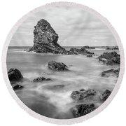 Round Beach Towel featuring the photograph Gwenfaens Pillar by Ian Mitchell
