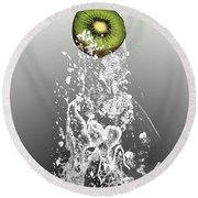 Kiwi Splash Round Beach Towel