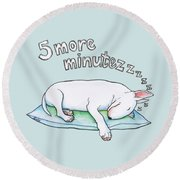 5 More Minutes Round Beach Towel