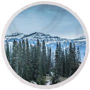 Round Beach Towel featuring the photograph Mountains by Bill Howard