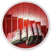 Negative Market Money Round Beach Towel