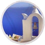 Oia - Santorini Round Beach Towel
