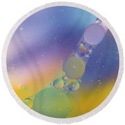 Oil In Water Round Beach Towel