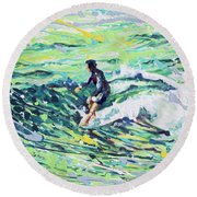 5 On The Nose Round Beach Towel
