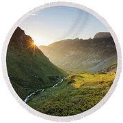 Rila Mountain Round Beach Towel