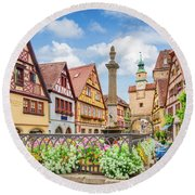 Rothenburg Ob Der Tauber Round Beach Towel