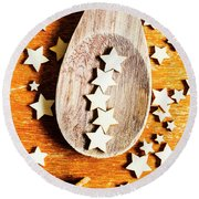 5 Star Catering And Restaurant Award Round Beach Towel