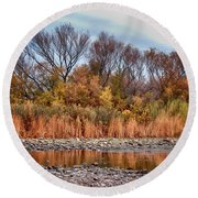 The Salt River Round Beach Towel