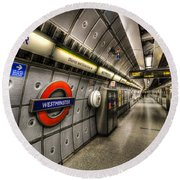 Underground London Round Beach Towel by David Pyatt