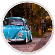 Volkswagen Beetle Round Beach Towel