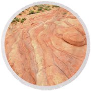 Round Beach Towel featuring the photograph Wave Of Color In Valley Of Fire by Ray Mathis
