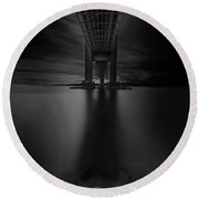 50 Shades Of Verrazano Round Beach Towel