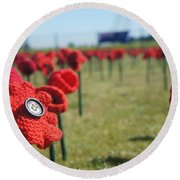 5000 Poppies Round Beach Towel by Therese Alcorn