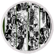 50th Athens Academy Round Beach Towel by John Jr Gholson