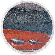Mahogany Magic Round Beach Towel