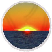 5.34.46 Am June 12-2016 Eye In The Sky  Round Beach Towel by Lyle Crump
