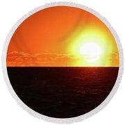 5.37.48 Am June 12-2016  Round Beach Towel by Lyle Crump