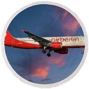 Air Berlin Airbus A320-214 Round Beach Towel