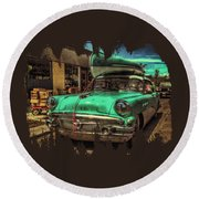 57 Buick - Just Coolin' It Round Beach Towel