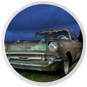 57' Chevrolet Round Beach Towel