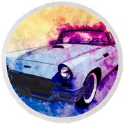 57 Thunderbird Watercolour Round Beach Towel