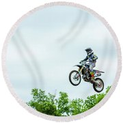 Round Beach Towel featuring the photograph 573 Flying High At White Knuckle Ranch by David Morefield
