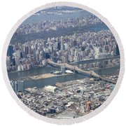 59th Street Bridge Round Beach Towel
