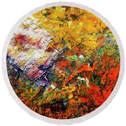Abstract Round Beach Towel by Michal Boubin