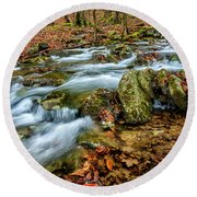Round Beach Towel featuring the photograph Aldrich Branch Monongahela National Forest by Thomas R Fletcher