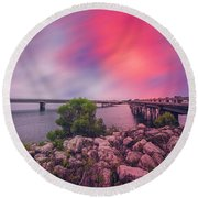 Round Beach Towel featuring the photograph Amelia Island by Peter Lakomy