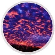 Round Beach Towel featuring the photograph Appalachian Sunset Afterglow by Thomas R Fletcher