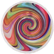 Spiraling Glass Round Beach Towel