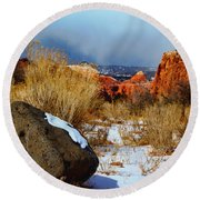 Captiol Reef National Park  Round Beach Towel