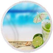 Cocktail Round Beach Towel