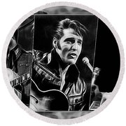 Elvis Round Beach Towel