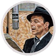 Frank Sinatra Collection Round Beach Towel