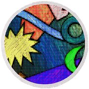 Funky Fanfare Round Beach Towel by Kyle West