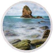 Gwenfaens Pillar Round Beach Towel by Ian Mitchell