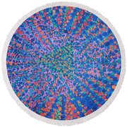 Mobius Band Round Beach Towel by Kyung Hee Hogg