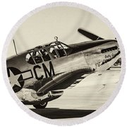 P51 Mustang Round Beach Towel by Chris Smith