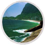 Rio De Janeiro Brazil Round Beach Towel