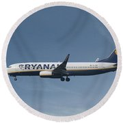 Ryanair Boeing 737-8as  Round Beach Towel